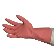Silverlined Rubber Gloves - Pink