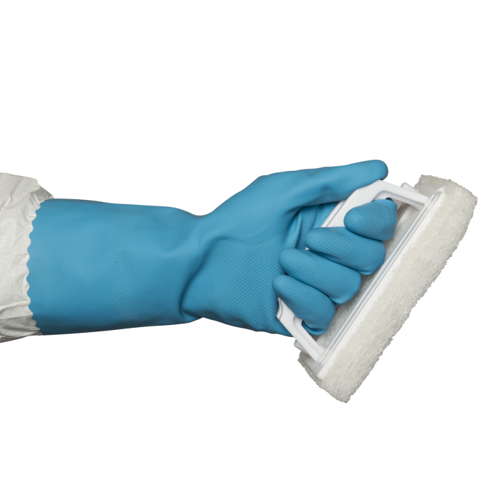Silver Lined Blue Rubber Gloves Wholesale Gloves Online